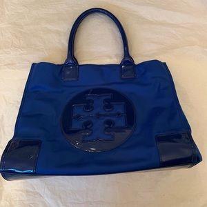 Large Blue Tory Burch Nylon Tote Bag